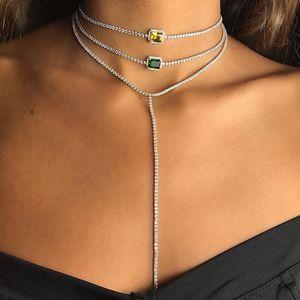 Image 5 - Женское Ожерелье чокер с радужным камнем талисманом