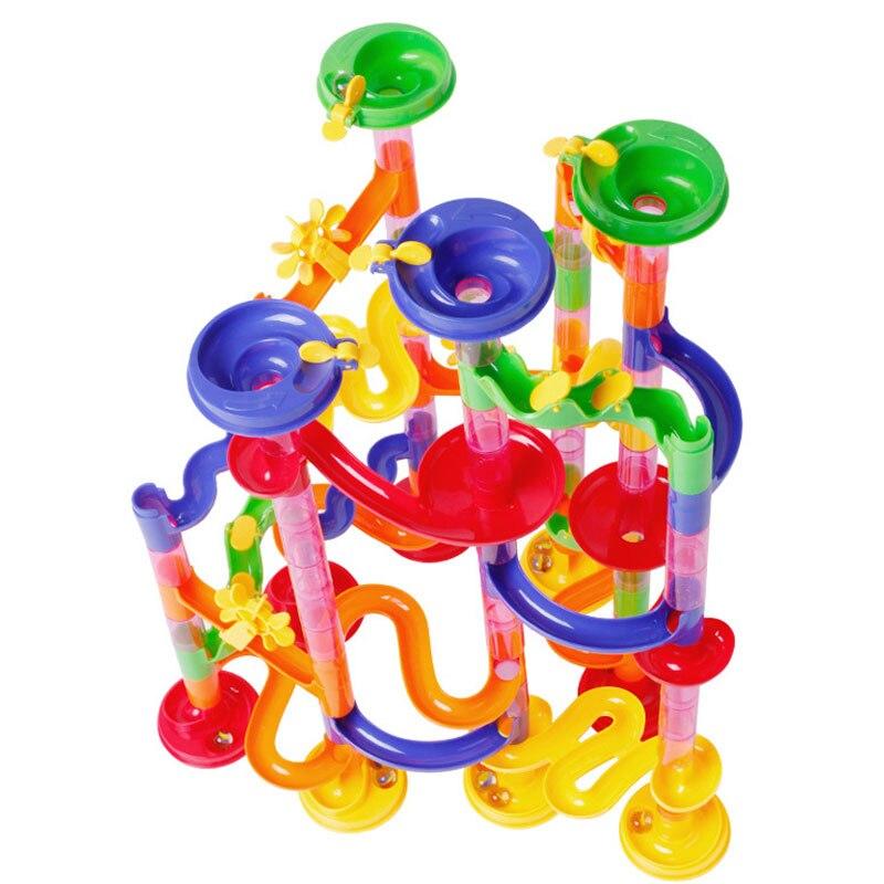 Hot Selling Run Race Coaster Set Railway Toys Track Ball Building Blocks Coaster Maze For Kids -17 88