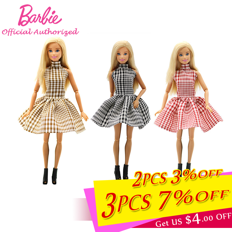 Barbie Doll Accessories Fashion Party Dress Beautiful Shopping Clothes Collection Barbie Handmake Wear Skirt Saia De Brinquedo