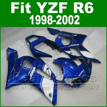 New arrival Plastic parts for YAMAHA R6 fairing kit 98-02 royalblue YZF R6 fairings1998 1999 2000 2001 2002 bodywork
