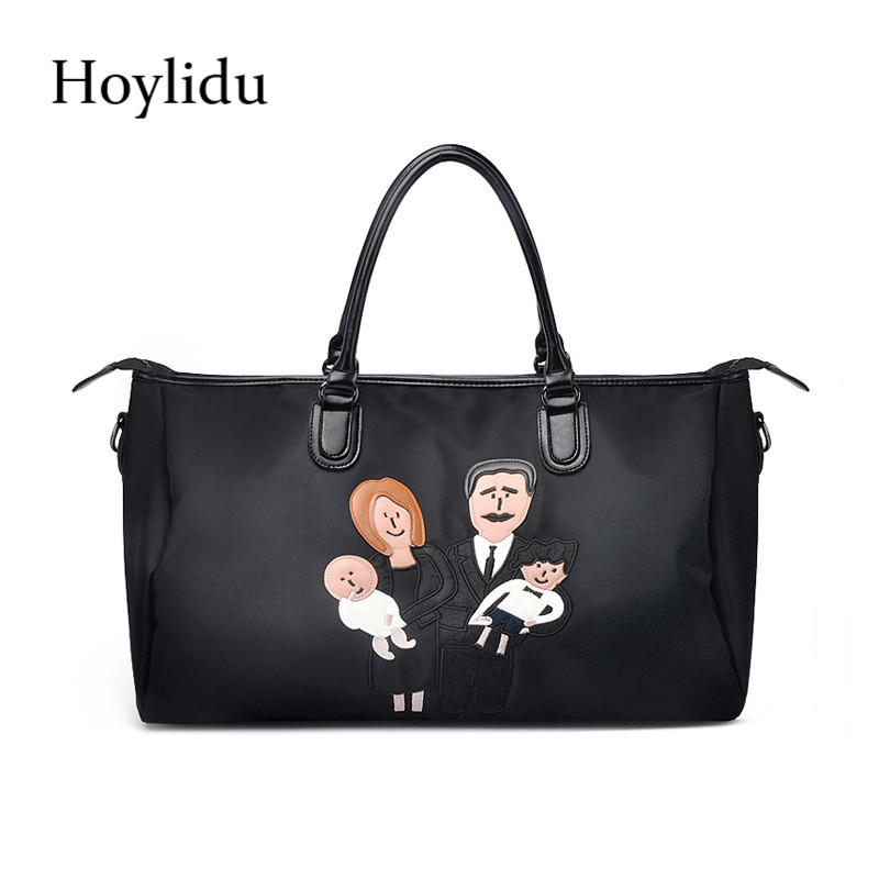New Fashion Cartoon Pattern Women Travel Duffle Waterproof Oxford Large Capacity Multifunction Design Male Business Laptop Bags