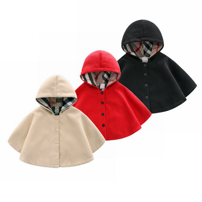 New Born Baby Girls Children's Winter Coats Jacket Clothes For 0-3 Months Winter 2018 Long Sleeve Spring & Autumn Outwear Cloak(China)