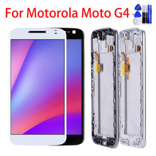 Original LCD Display For Motorola Moto G4 Touch Screen XT1622 XT1625 XT1620 XT1621 Digitizer Assembly Replacement Black White