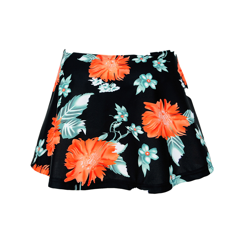 hot 2018 summer skirt Women Fashion wild Bikini Ruffled Brief Bottoms Short Skirt vintage striped floral Swimuit Skirt