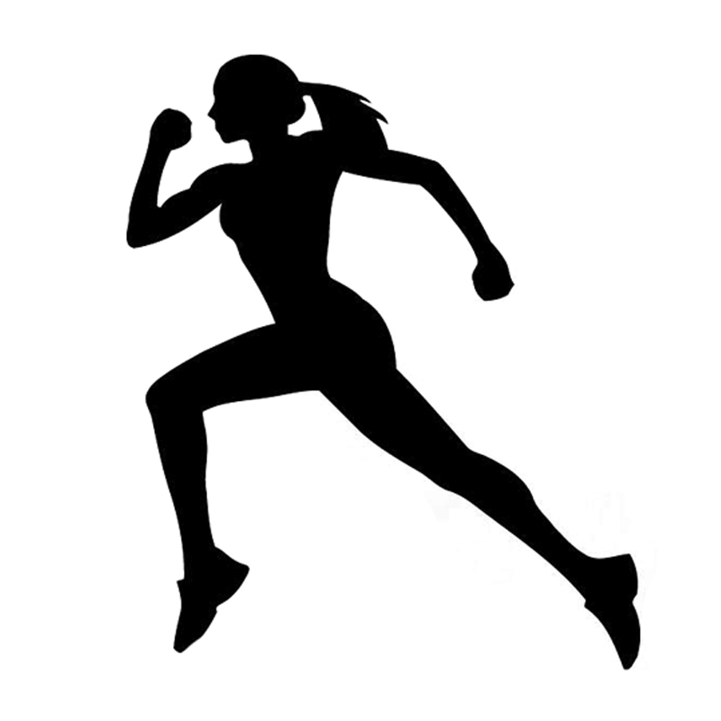 11.5CM*13.6CM Fashion Runner Sport Fitness Silhouette Vinyl Car Sticker Black/Silver S9-1135