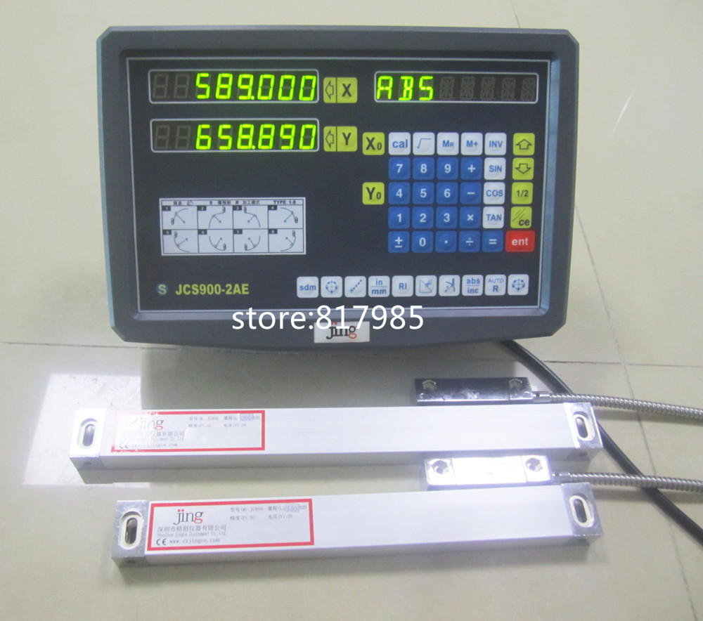 цена на DRO 2 Axis digital readout for milling lathe machine with precision linear scale linear encoder include accessories