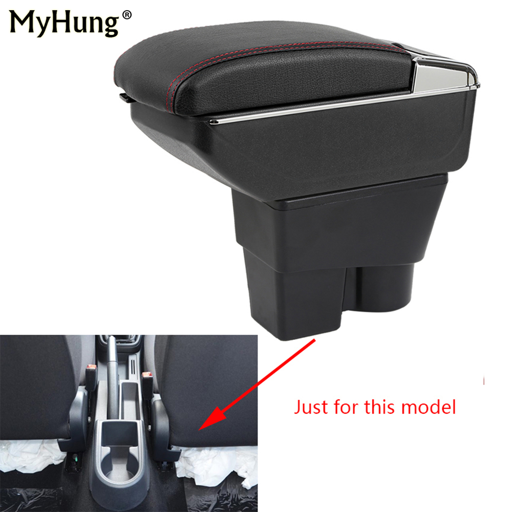 For Skoda Rapid Spaceback 2013-2017 Car Armrest box Central Console Arm Store content box cup holder With Rise and Down Function universal leather car armrest central store content storage box with cup holder center console armrests free shipping