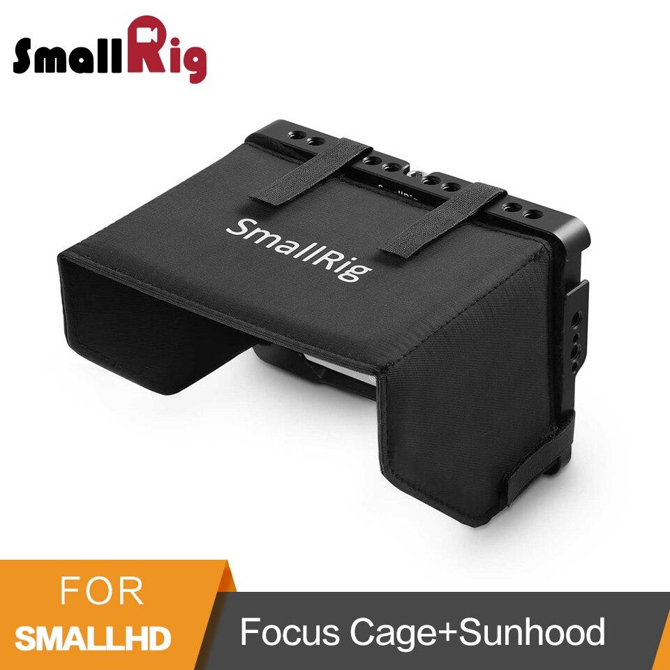 SmallRig Moniteur à Écran De Protection Cage Avec Pare-Soleil Capot pour SmallHD Focus Moniteur Cage Kit-2095