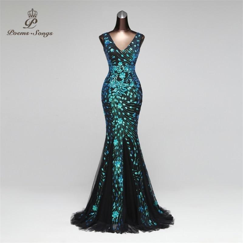 Elegant Mermaid Evening Dress Prom Gowns Formal Party Dress Vestido De Festa Luxury Robe Longue Vestido De Festa Longo