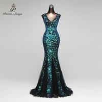 Poems Songs 2019 Double V Mermaid Evening Dress prom gowns Formal Party dress vestido de festa Elegant Luxury robe longue