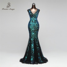 Prom-Gowns Robe Longue Party-Dress Mermaid Vestido-De-Festa Poems Songs Formal Elegant