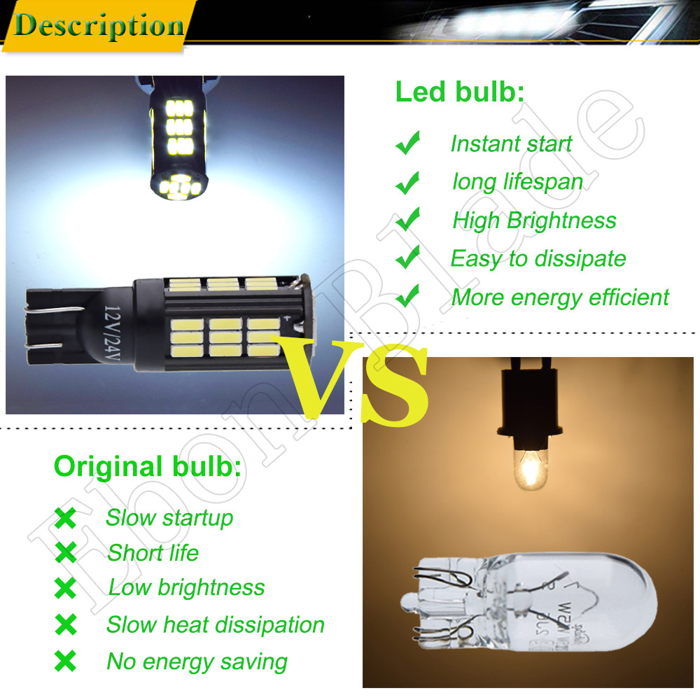 Image 5 - 2 x T10 W5W 194 168 2825 High Power 4014 42 SMD Auto LED Back Up Reverse Light Parking Bulb Lamp White 6000K 12V 24V Car Styling-in Signal Lamp from Automobiles & Motorcycles