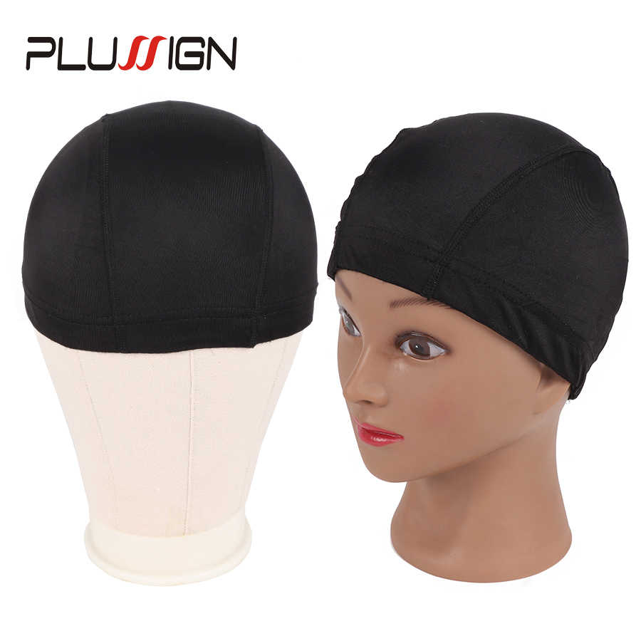 ... 5Pcs Top Aliexpress Selling Dome Caps For Wig Making Weaving Cap Black  Silk Wig Nets Stocking ... 446e75943