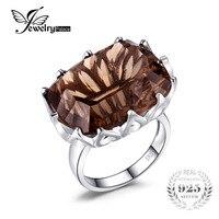 Hot Sale Classic Vintage Luxury Stylish Shiny 20ct Genuine Smoky Quartz Ring Size 6 7 8
