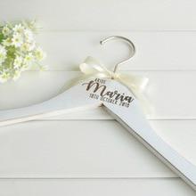 Заказная Свадебная Вешалка, персонализированная Свадебная Вешалка, подарок подружки невесты, Выгравированная свадебная одежда, вешалка для платья
