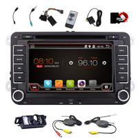 7'' Car GPS Navigation DVD CD Player Unit for Volkswagen Double Din HD Car Stereo Audio Radio+Bluetooth+canbus+wireless camera