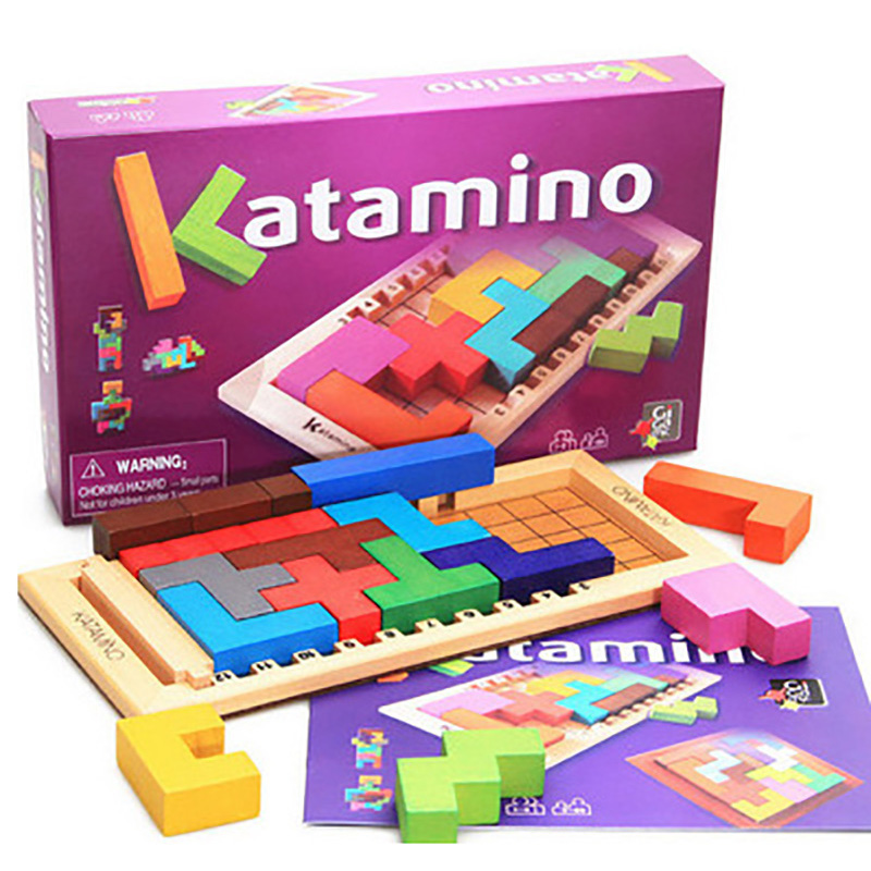 KATAMINO  Board Game Variety Box Environmental Protection Wood  Funny Puzzle Games For Party/Family With Free Shipping z97m d3h z97 lga1150 matx all solid game board board