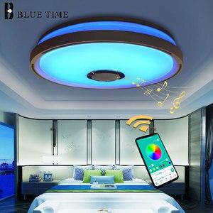 Image 2 - Müzik LED tavan Işıkları RGB APP kontrolü tavan lambası yatak odası 36W oturma odası ışık lampara de techo tavan ışık