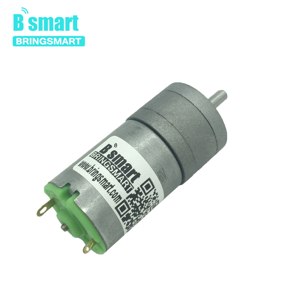 Bringsmart 12v DC Gear Motor Carbon Brush Strong Magnetic Reducer 6v Metal Micro Motor for Mechanical car Boat Robot JGA25-280 tt motor diy robot reducer dc 3v 12v strong magnetic anti interference dual axis