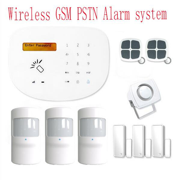 433mhz Home GSM Burglar Alarm System LCD display RFID function GSM Alarm system support smart zone function