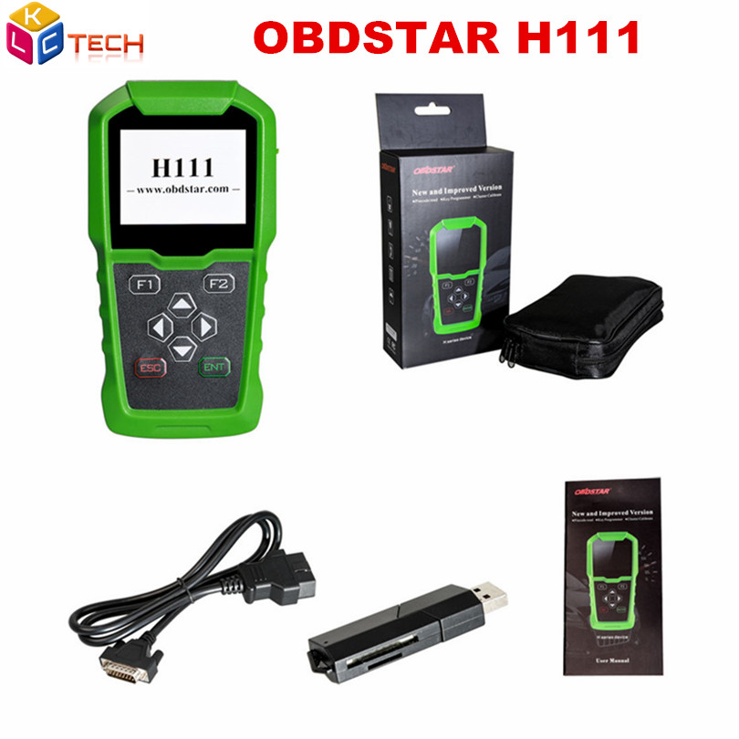 OBDSTAR H111 for OP EL Key Programmer A Quality Auto Key Programmer Cluster Calibration via OBD