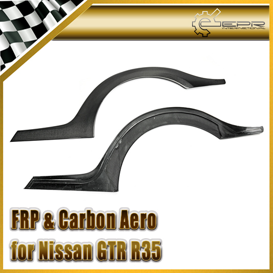 Car-styling For Nissan R35 Carbon Fiber TS Style Rear Fender Flare