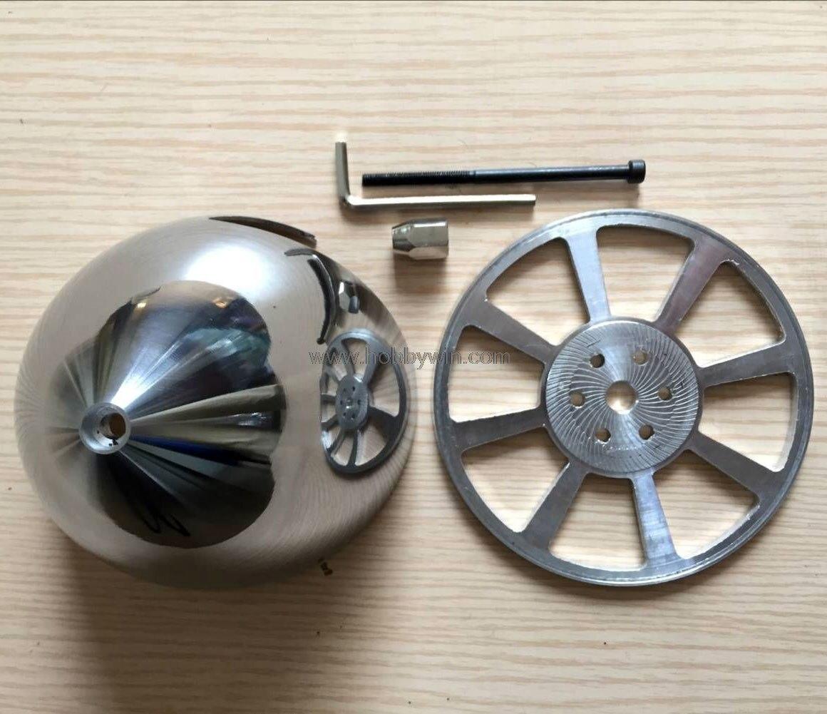 Spinner en aluminium à 2 fentes 102mm 4in pour hélice de moteur à gaz DLE pièces de rechange d'avion à deux lames