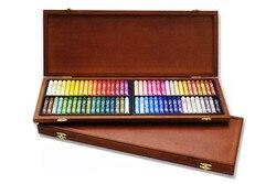 Livraison gratuite 72 couleurs Mungyo galerie artistes ronde pleine SZ huile Pastel bois boîte MOP-72W