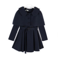 Hot Sale Next Kids Clothes Children Winter Outfits Autumn Dress Set Girls Jacket And Dress