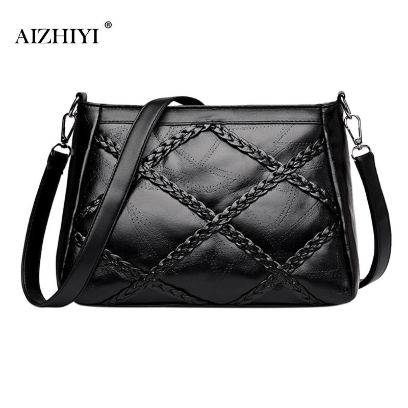 Fashion Zipper office bags for women Messenger Shoulder Bag Plaid PU Leather Crossbody Famous Handbags Casual Totes Black  Fashion Zipper office bags for women Messenger Shoulder Bag Plaid PU Leather Crossbody Famous Handbags Casual Totes Black