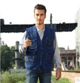 Plus Size 4XL 5XL Denim Vest Male Photography Clothing Men's Denim Vest Colete Masculino Sleeveless