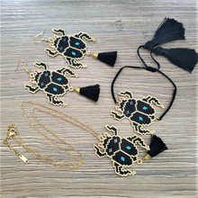 Shinus 2019 Jewelry Set Women Beetle Earrings Bracelet Necklace Pendant Delica Beads DIY Animal Sets Party Gift