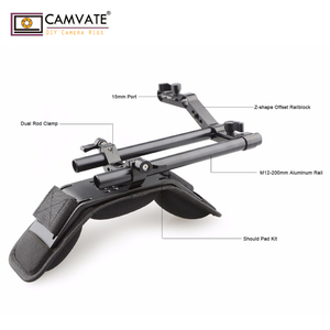 Image 3 - CAMVATE Camera Shoulder Mount Kit With Foam Shoulder Pad & Z Shaped Railblock Rail For DSLR Camera / DV Camcorder Support System