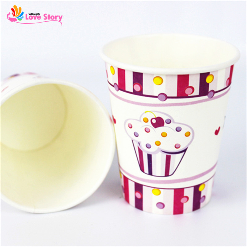 6pcs/lot <font><b>Cupcake</b></font> Boy/<font><b>Girl</b></font> Paper <font><b>Cups</b></font> <font><b>Birthday</b></font> Kids Party Drinking Decoration For Children Party Supplies <font><b>Birthday</b></font> Decorations