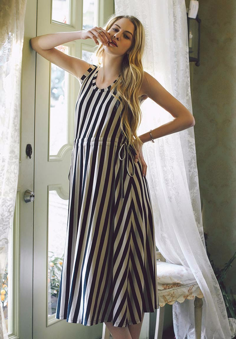 2384b3bcbbe Women Long Maternity Dresses Nursing Striped Skirt For Pregnant Women  Breastfeeding Women  s Clothing Mother Home Clothes ...