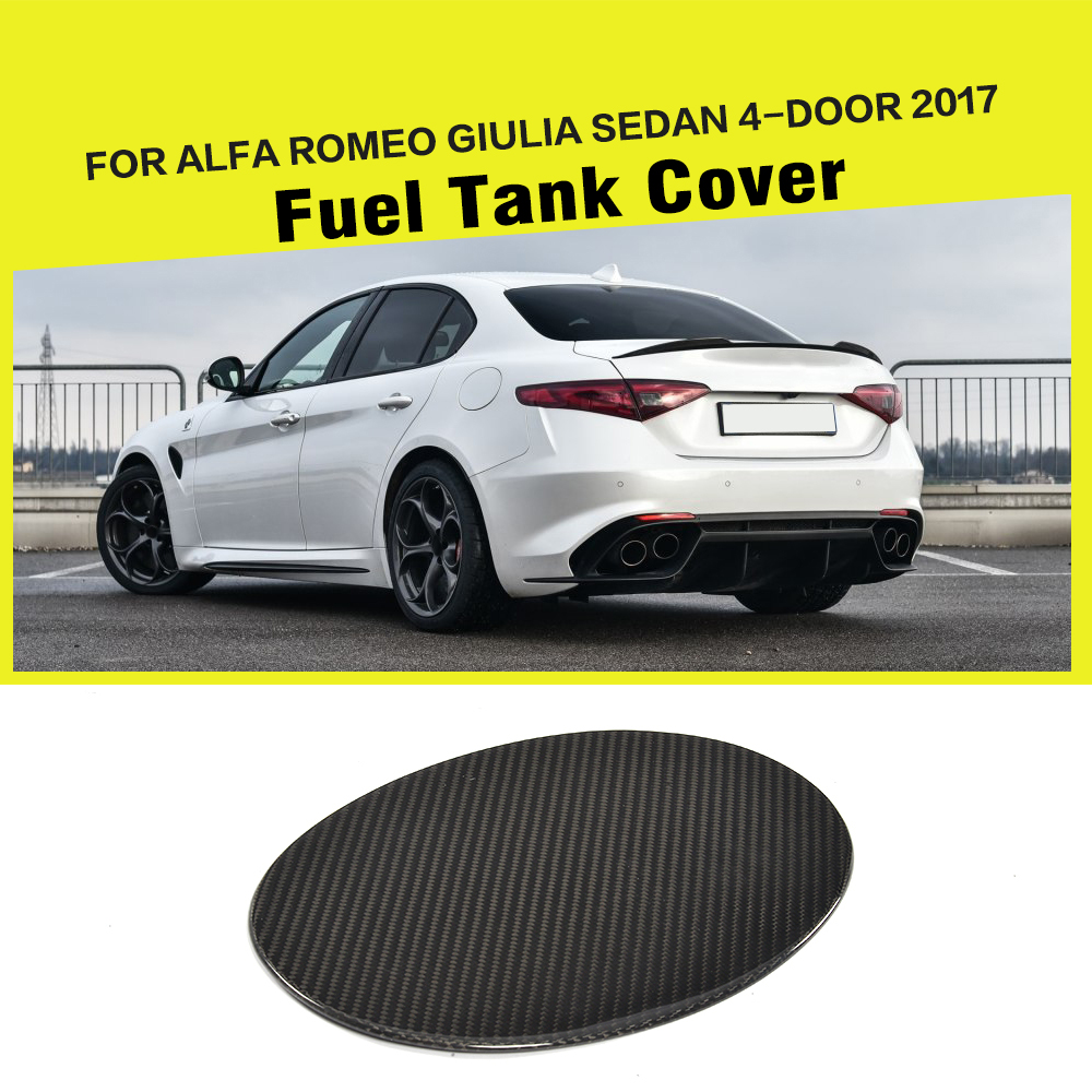 Углеродного волокна нефть топливного газа танк Pad крышка наклейка для Альфа Ромео giulia в 4-дверный 2017 стайлинга автомобилей