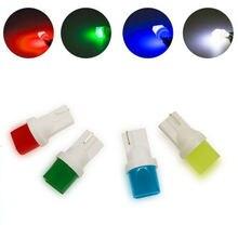 100 pces t10 3d conduziu a lâmpada w5w carro branco luzes led lado direção luz mapa da porta festão lâmpada lâmpadas dc 12 v verde azul branco vermelho