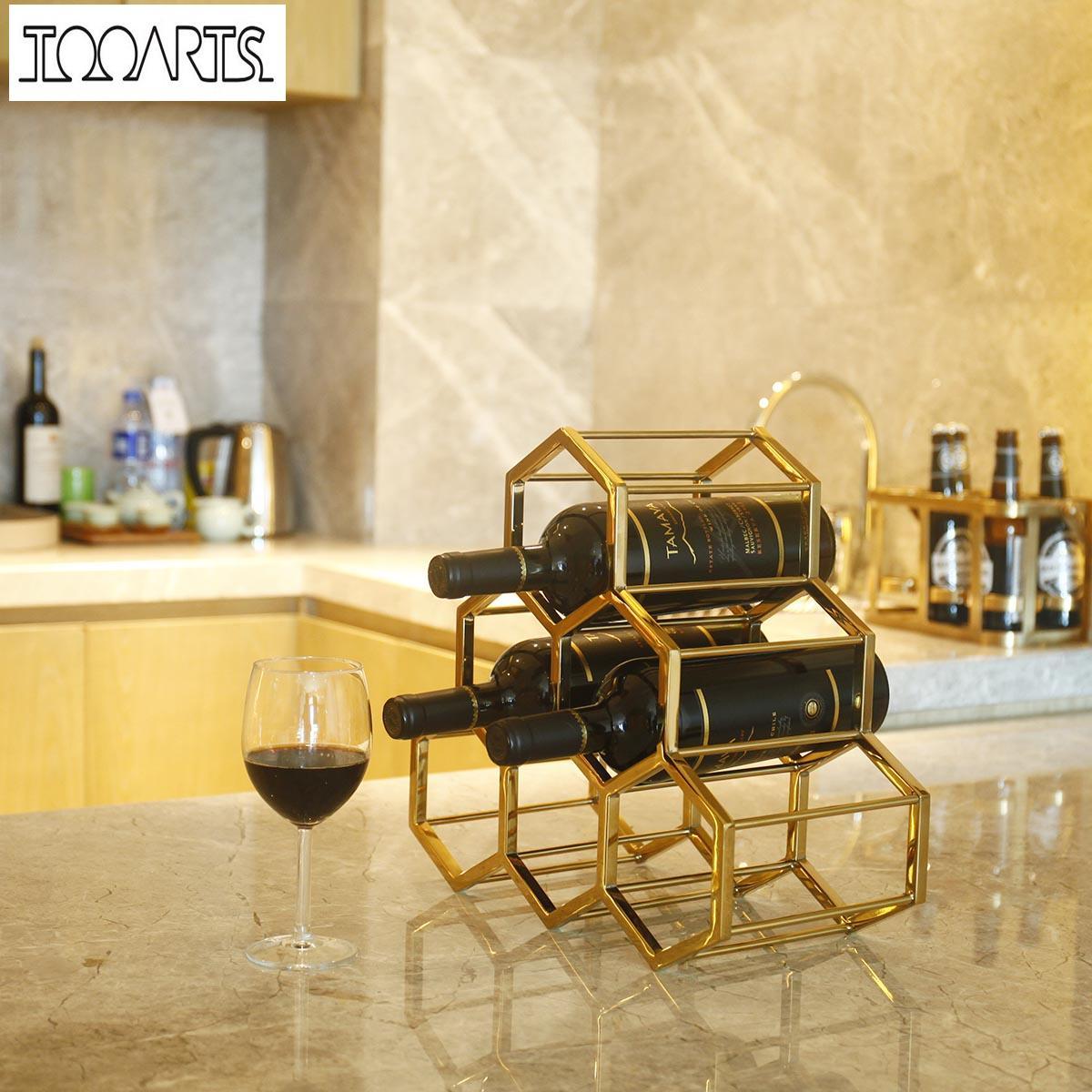 Wine Rack Metal Wine Holder Innovative Wine Holder 6 Bottle Rack ...