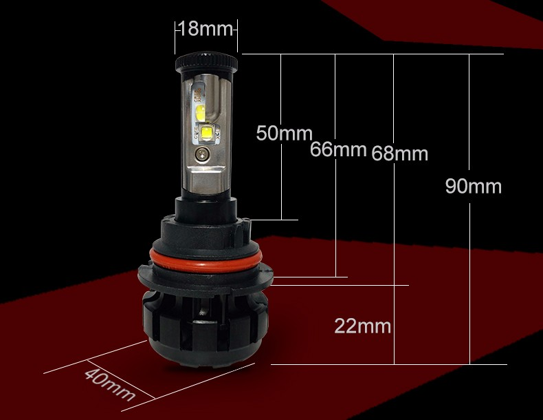 12000LM Super Bright Car LED Headlight Kit H4 HB2 9003 H13 9007 Cree Chips Replace Bulb Anti-Dazzle Beam 3000K 4300K 6000K (6)