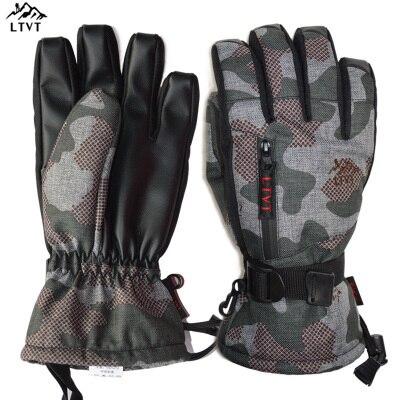 LTVT marque femmes/hommes gants de Ski Snowboard gants moto équitation hiver nouveaux gants imperméable unisexe neige gants - 2