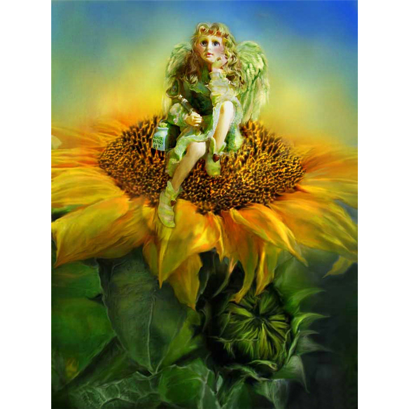 5d Sunflower girl diamond painting characters picture needlework full rhinestone DIY cross stitch diamond embroidery M629
