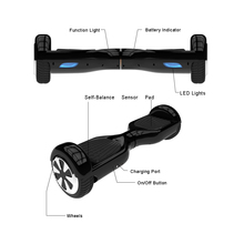 Hoverboard Black 6.5 Inch Two Wheel Self Balance Scooter Hover board with Carry Bag UL Certificated DE Stock Free Shipping
