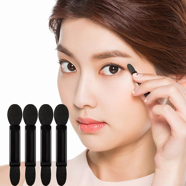 10pcs Double-Head Sponge Eye Shadow Eyeliner Brush Black&White Applicator Beauty Makeup Tools Foundation Makeup Brushes Tool Set 2