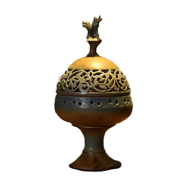 Ceramic Antique Censer Stick Incense Coil Incense Burner Buddhism Articles Incensory Home Decoration Hot Sale W $