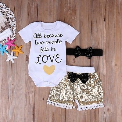 0933ad7bed81d5 Cute Baby Girl Letter Top kids Sequin Pants Toddler Summer Bows Outfits  Infant White Clothes Set -in Clothing Sets from Mother & Kids on  Aliexpress.com ...