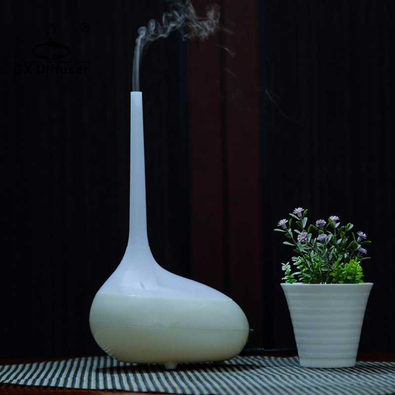 GX.Diffuser New Air Purifier Essential Oil Aroma Diffuser Ultrasonic Air Humidifier 7 Changeable LED Lights Electric Mist Maker
