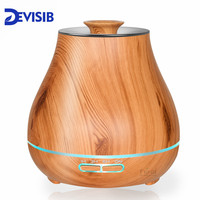 DEVISIB 400ml Essential Oil Diffuser Aroma Cool Mist Humidifier with Waterless Auto Shut off and 7 Color LED Light and BPA Free