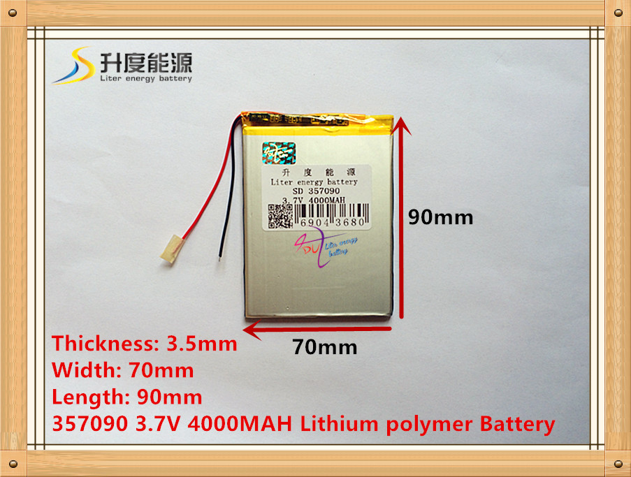 357090 3.7V 4000MAH Lithium polymer Battery with Protection Board For Tablet PC U25GT 407292 3 7v 3 8v 4800mah li polymer battery for tablet pc irbis tz56 tz49 3g tz709 tz707 ipaq texet tm 7043xd 407090 u25gt