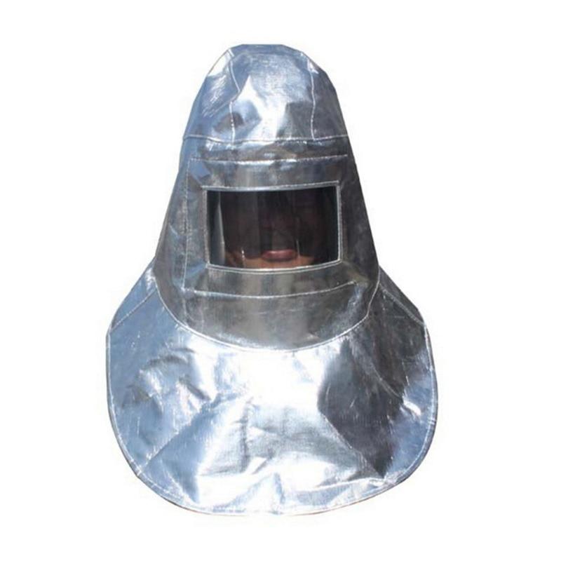 1000 Degrees Heat Resistant Helmet Anti High Temperature Safety Mask Aluminum Foil Self Defense Fireproof Welding Protect Mask anti splash resistant high temperature aluminum alloy bracket mask safety protection mask