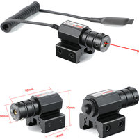 Tactical Hunting Red Dot Mini Red Laser Sight Scope Dovetail or Weaver Picatinny Rail Mount with Remote Pressure Switch